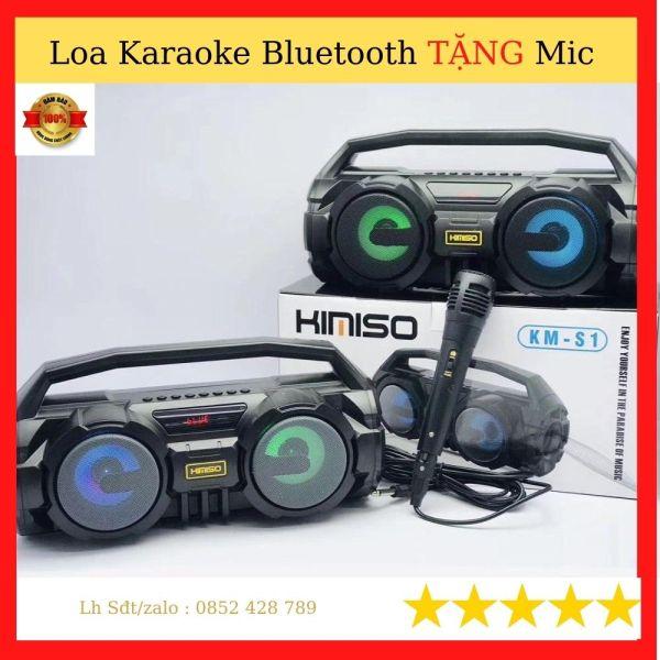 Loa bluetooth karaoke- Loa karaok TẶNG mic Hàng Chính Hãng Bảo Hành 12 Tháng
