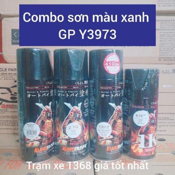 SƠN SAMURAI COMBO SƠN XỊT MÀU XANH GP Y3973 GỒM 4 CHAI - Trạm Xe 1368 dễ dàng sử dụng dành cho mọi dòng xe