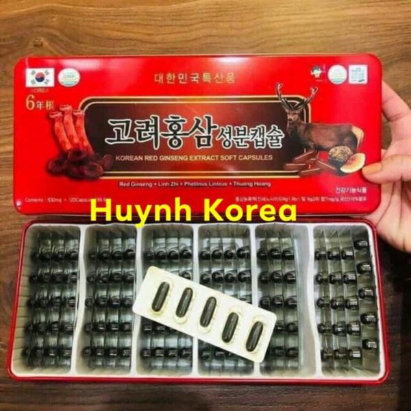Viên đạm tổng hợp Nhân sâm-Linh chi-Nhưng hươu Hàn Quốc 120v