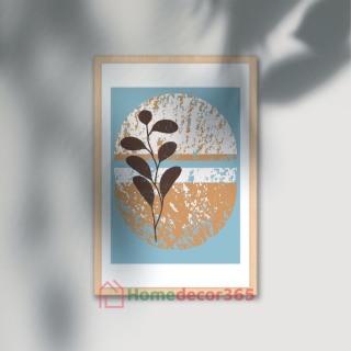 [Tặng móc treo + khung composite) Tranh Canvas treo tường decor phòng ngủ, phòng khách phong cách tối giản Size bé 20x30cm thumbnail