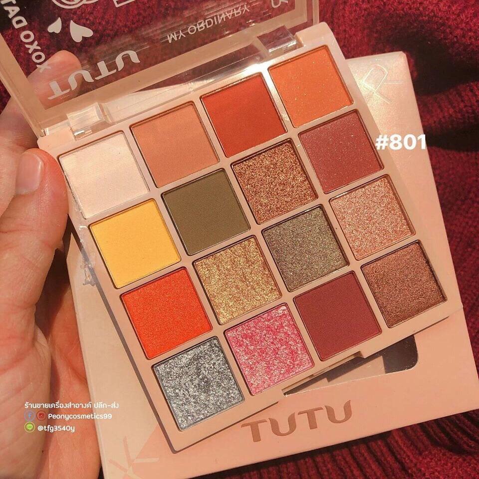 TUTU - Bảng mắt 16 màu KAQI COLOR hàng nội địa Trung tốt nhất