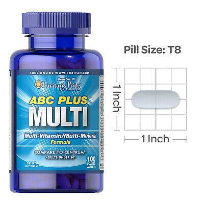 Vitamin tổng hợp cho người già, giúp khỏe mạnh, ăn tốt, ngủ ngon ABC Plus Senior multi-vitamins and multi-minerals của Puritans Pride cao cấp