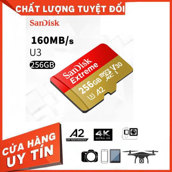 Thẻ Nhớ MicroSDXC SanDisk Extreme V30 A2 256GB 160MB/s SDSQXA1-256G-GN6MN - Bảo Hành 3 Năm Miên phí Đổi trả 7 Ngày