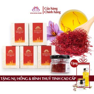 Combo 5 hộp saffron Kingdom, nhụy hoa nghệ tây Iran chính hãng loại super negin thượng hạng - 5 hộp 1 gram thumbnail