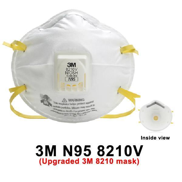 Combor 5 Khẩu trang 3M 8210V chống bụi min PM 2.5, khói bụi hoá học, than và Virus, vi khuẩn