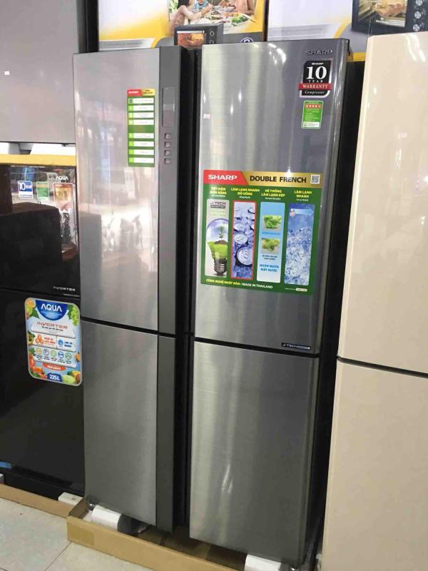 Tủ lạnh sharp Inverter 4 cánh 626L sj-fx631v-sl (hàng thái lan - bảo hành chính hãng 1 N tại nhà)