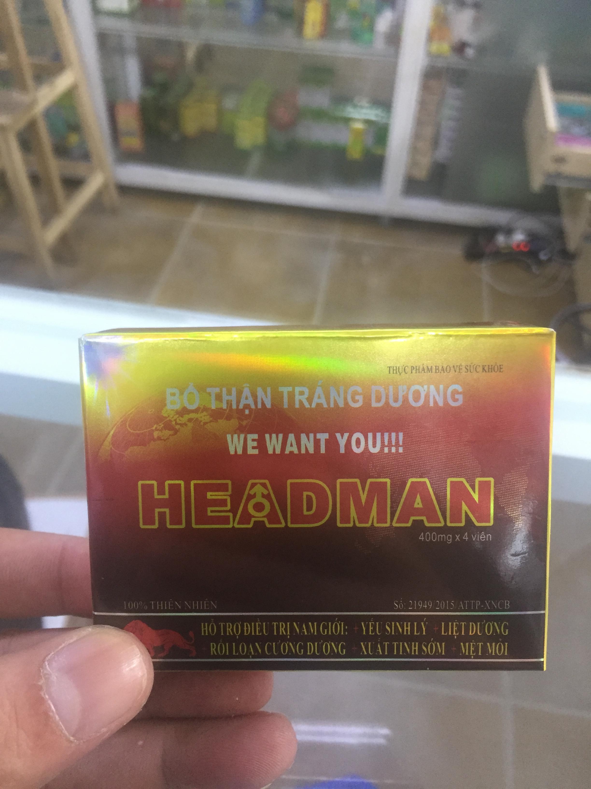 HEAD_MAN BỔ THẬ.N TĂNG CƯỜNG SI.NH L.Ý HỘP NHỎ 2 gói