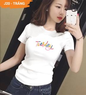 Áo thun nữ đẹp XBeauty J20 áo phông nữ vải Cotton 100% cao cấp. Có 2 màu (Đen Trắng). Áo thun thời trang Nữ cá tính sang trọng thumbnail