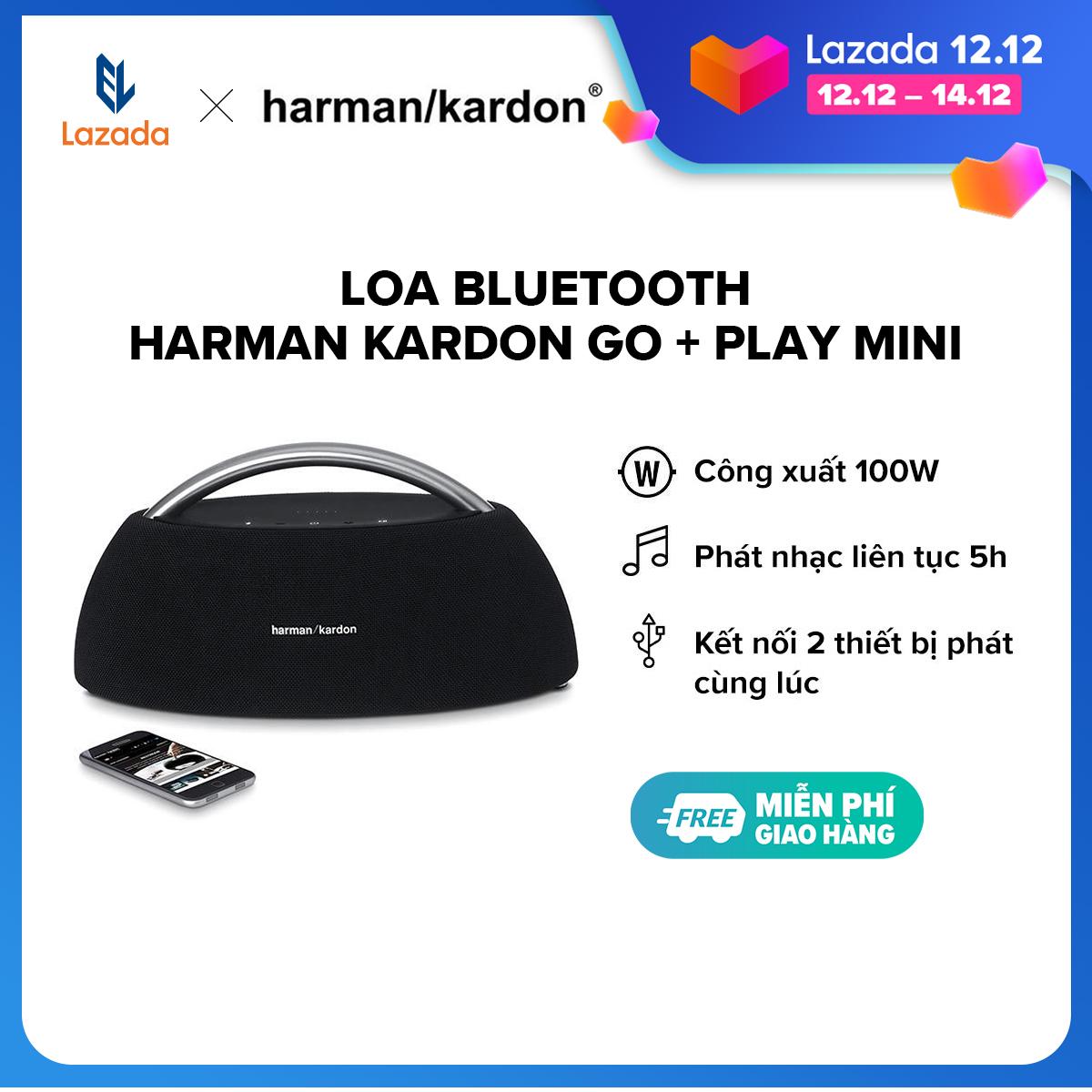 [TRẢ GÓP 0% - HÀNG CHÍNH HÃNG] Loa Bluetooth Harman Kardon Go + Play mini l 4 Driver công suất khủng 100W l Pin 2200 mAh l Nghe nhạc liên tục 8h