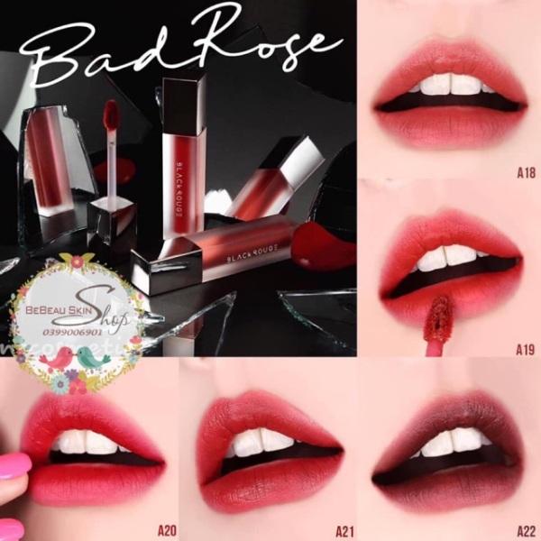 Son BLACK ROUGE AIR FIT VELVET TINT VER.4 BAD ROSE - Bebeau Skin Shop