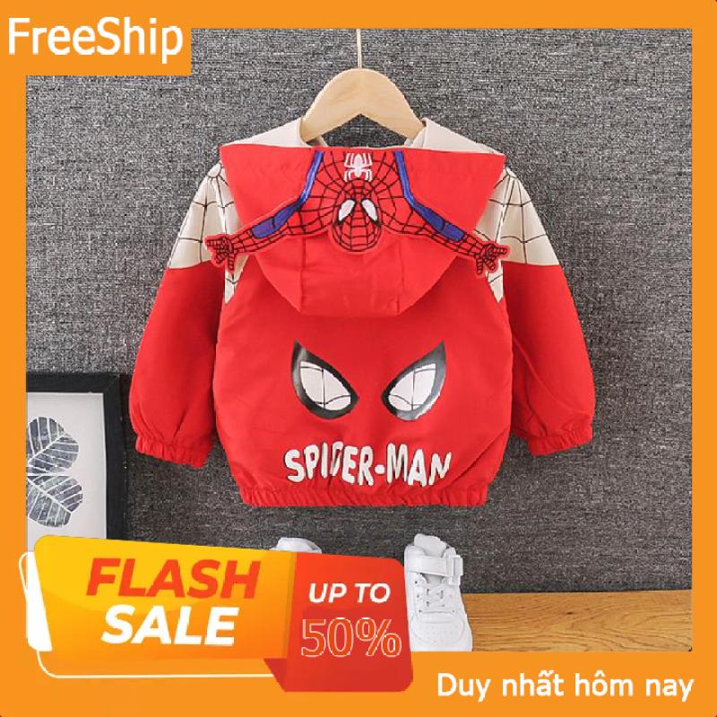 ❤️SALE❤️ Áo khoác siêu nhân cho bé trai màu đỏ và xanh 7-25kg