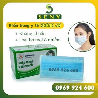 Khẩu Trang Y Tế 4 Lớp Kháng khuẩn - Màu Xanh Hộp 50 cái (4 Layers Face Mask) thumbnail