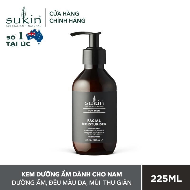 [QUÀ TẶNG ĐƠN TỪ 300K]Kem dưỡng ẩm dành cho nam Sukin For Men Facial Moisturiser 225ml