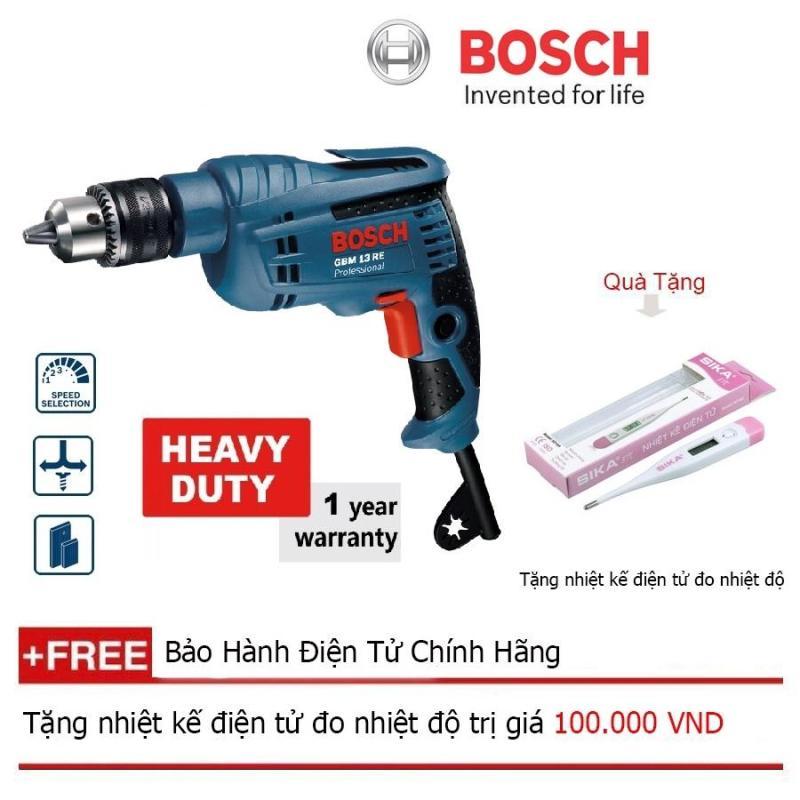 Máy khoan Bosch GBM 13 RE (hộp giấy)+ Quà tặng nhiệt kế điện tử