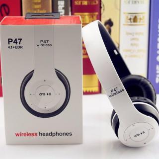 ( HÀNG XỊN GIÁ SỈ ) Tai nghe bluetooth P47 có khe cắm thẻ nhớ - Âm Thanh Đỉnh Cao, Tai nghe bluetooth, Tai nghe Bluetooth có khe cắm thẻ nhớ, Tai nghe Bluetotoh có Mic, Tai Nghe Bluetooth Chụp Tai - CAM KẾT BẢO HÀNH - 1 ĐỔI 1 TRONG VÒNG 30 NGÀY thumbnail