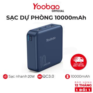 Pin sạc dự phòng Yoobao M4PD 10000mAh, sạc nhanh 20W, QC3.0 - Hàng chính hãng Yoobao- Bảo hành 12 tháng thumbnail