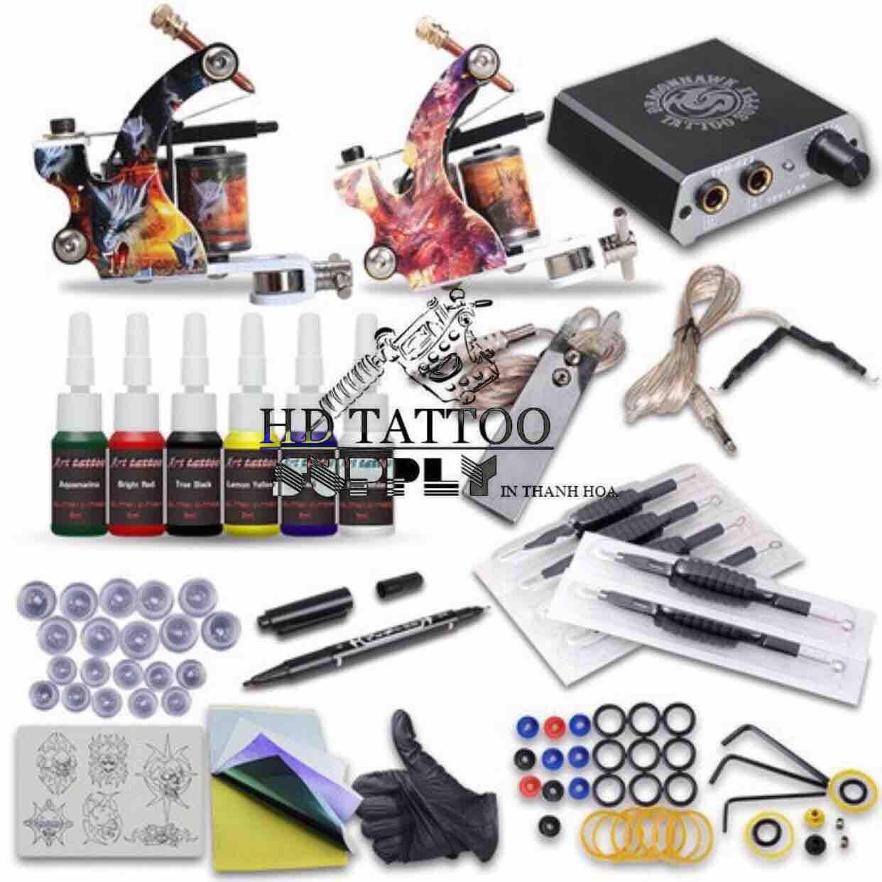 Trọn bộ máy xăm hình DRAGON kit tattoo 2 machine