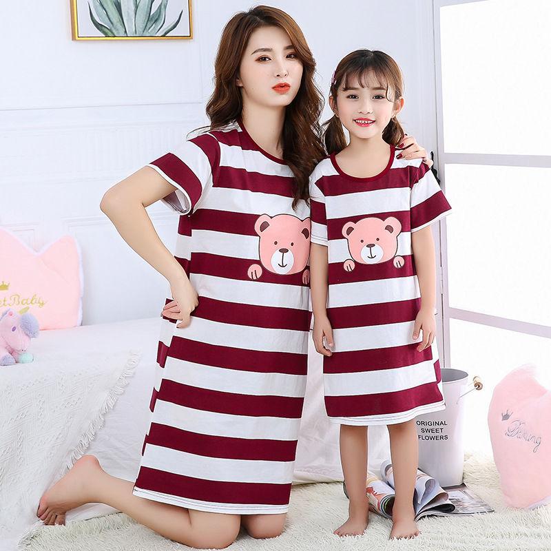 Nơi bán Nguyên Chất Bé Gái Cotton Váy Ngủ Trẻ Em Bộ Đồ Ngủ Vải Mỏng Nữ Tay Ngắn Bé Gái Công Chúa Trung