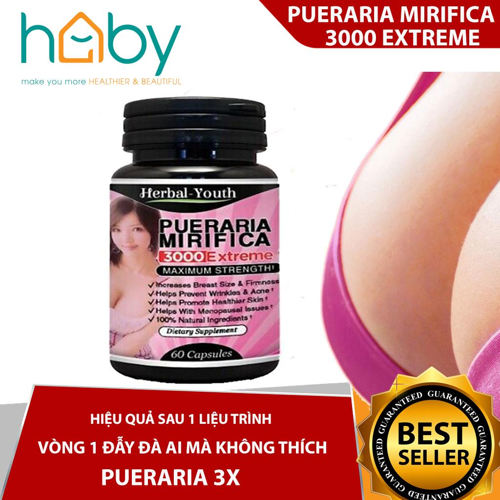 Viên uống nở ngực 3000 EX PUERARIA MIRIFICA NATURAL BREAST ENLARGEMENT PILLS 60 Viên