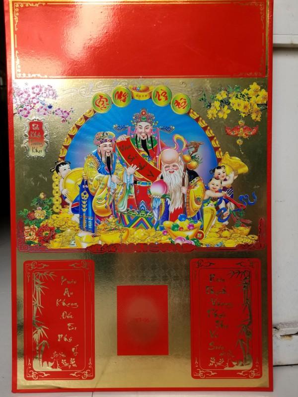 Bìa lịch treo 40x60 Hình 3 Ông Phúc Lộc Thọ