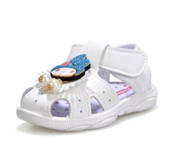 SN4-Giày sandal tập đi cho bé gái đế gấu có kèn hình cô tiên dễ thương - Kèm hình thật giá rẻ
