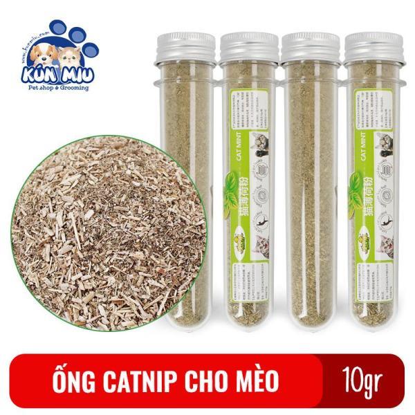 Ống cỏ bạc hà mèo, Catnip cho mèo Kún Miu thư giãn cho mèo 10gr