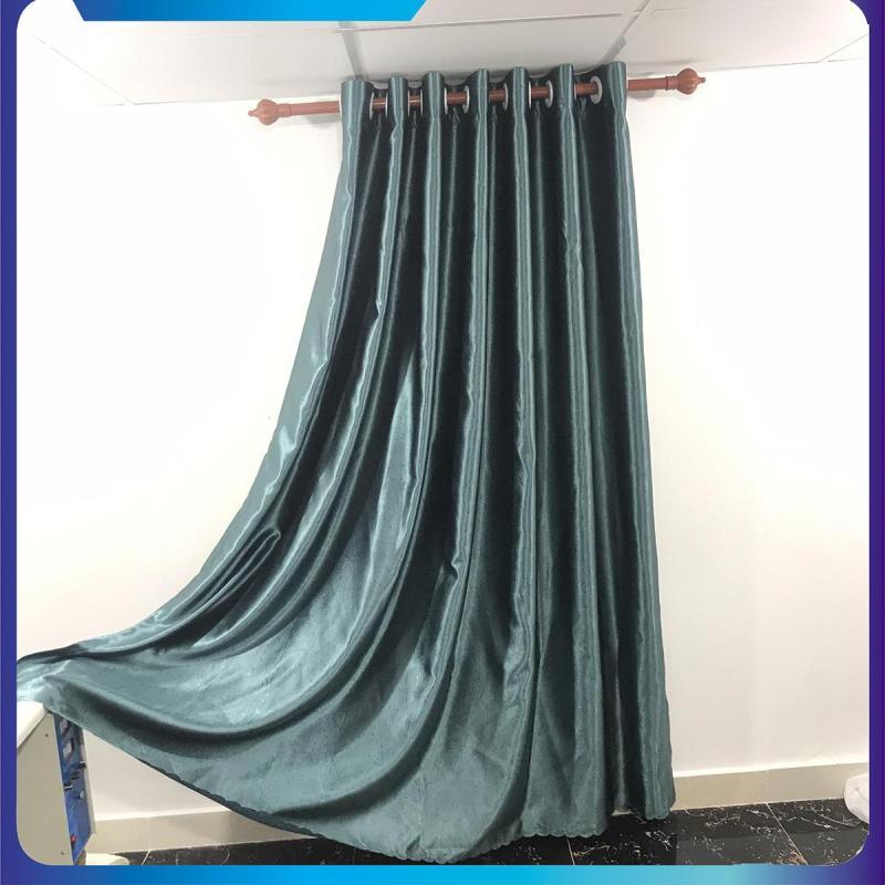 màn cửa, rèm cửa chống nắng, ngang 1.5m, 2m, 2.5m, 3m cao tùy chọn màu xanh ngọc bích, dùng làm rèm cửa chính, rèm cửa sổ, màn cửa chống nắng + tặng dây vén màn trang trí - ilakaka
