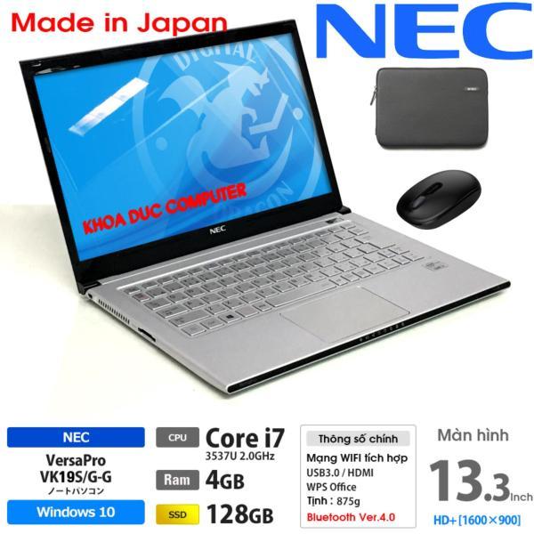 [Trả góp 0%]Laptop Nhật bản NEC Versapro VK19S Core i7-3517U 4gb Ram 128gb SSD 13.3inch HD vỏ nhôm magie siêu mỏng nhẹ