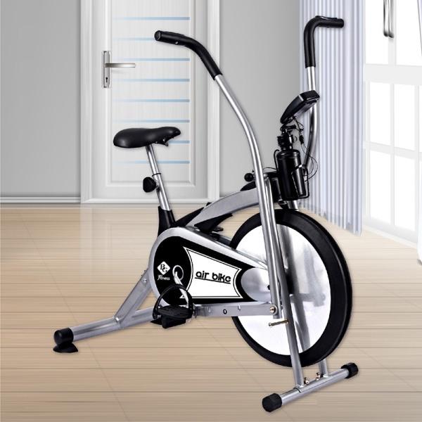 GYM19 - Xe đạp tập thể dục Air bike 8701 Màu xám mẫu mới hot 2020