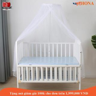 [Tặng Quà] Cũi ngủ cho em bé-Màu trắng, Dài 120cm, Rộng 72cm. TẶNG 01 MÙNG CHỐNG CÔN TRÙNG. Giường cũi, cũi giường trẻ em, giường cho em trẻ em, giường em bé, giường gỗ, cũi nôi em bé, nôi cũi trẻ em, HONA SMART thumbnail