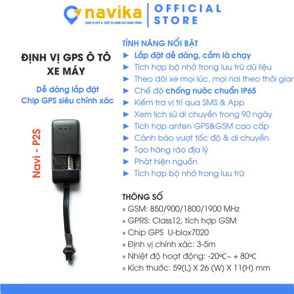 Định vị xe máy, xe oto P2S, chip định vị GPS theo dõi vị trí chính xác, dùng cho các loại xe mã P2S- sieuthidinhvi.com