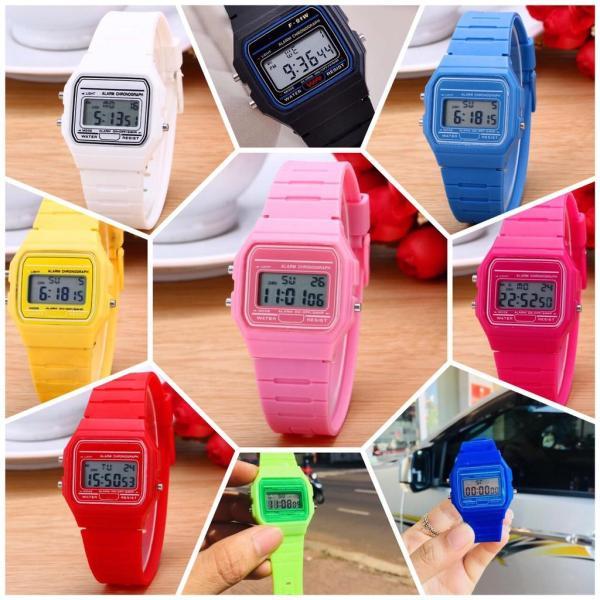 Nơi bán Đồng hồ điện tử nam nữ Casi WR full chức năng & có báo thức - mặt đồng hồ theo màu dây