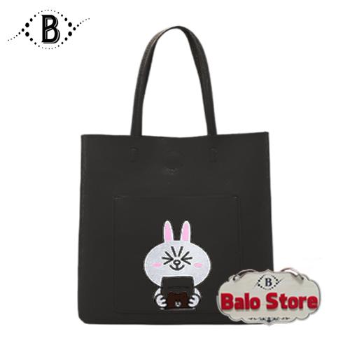 Túi tote da, túi xách tay, túi đeo vai nữ họa tiết thỏ Cony siêu đáng yêu thích hợp đi học, đi làm, du lịch, dạo phố DT89LA - Thương Hiệu BALO STORE