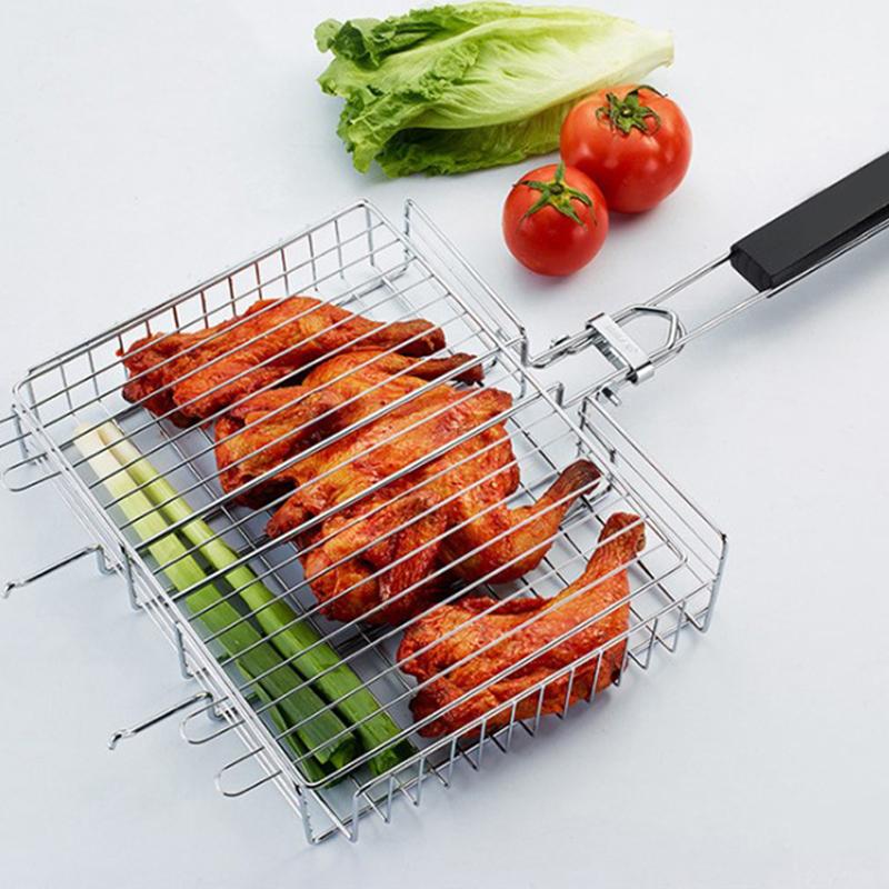 Lò nướng thịt bằng thép không gỉ di động cho bữa tiệc gia đình cắm trại ngoài trời Nướng nướng dã ngoại