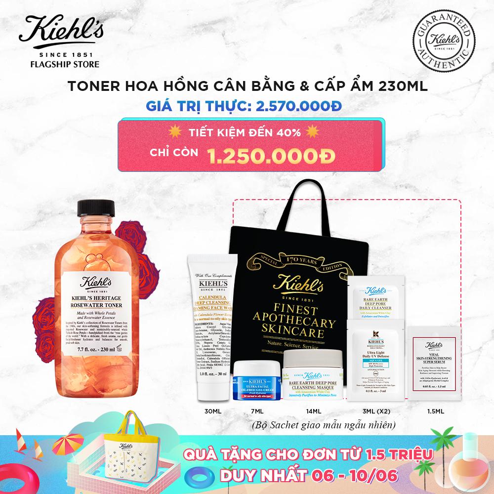 [Phiên bản 170 năm] Nước cân bằng Hoa Hồng Kiehl's Rose Water Toner 230ml