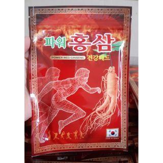Cao dán hồng sâm Korea power Gíneng 20 miếng túi đỏ thumbnail