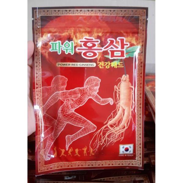 Cao dán hồng sâm Korea power Gíneng 20 miếng túi đỏ