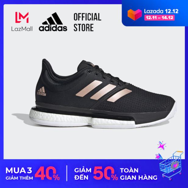 adidas TENNIS Giày SoleCourt Nữ Màu đen FU8133 giá rẻ