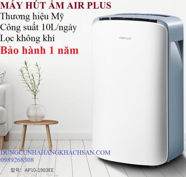 Máy hút ẩm công suất lớn Air Plus 10L- Thương hiệu Mỹ-Dùng cho phòng đến 80m2- Bảo hành 1 năm