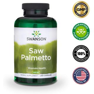 Viên uống Saw Palmetto hỗ trợ sức khỏe tuyến tiền liệt đường tiết niệu và mọc tóc 250 viên thumbnail