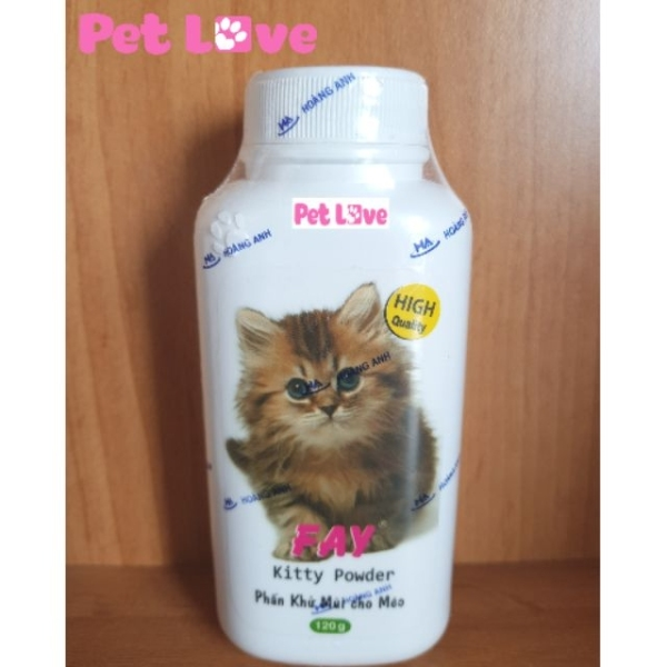Phấn Fay Kitty khử mùi, tắm khô cho mèo (120g)
