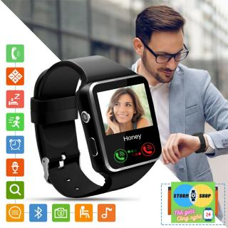 Đồng hồ thông minh điện thoại X6S kiểu dáng Apple Watch. Màn hình cong bo tròn viền 4 góc - Cảm ứng đa điểm không lag giật - Tính năng nghe gọi và sử dụng như điện thoại. BH 12 tháng thumbnail