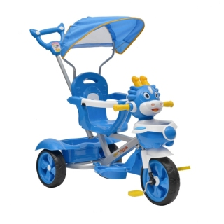 Xe 3 bánh có mái che và cần đẩy C3 Song Long đáng yêu cho bé - màu ngẫu nghiên thumbnail