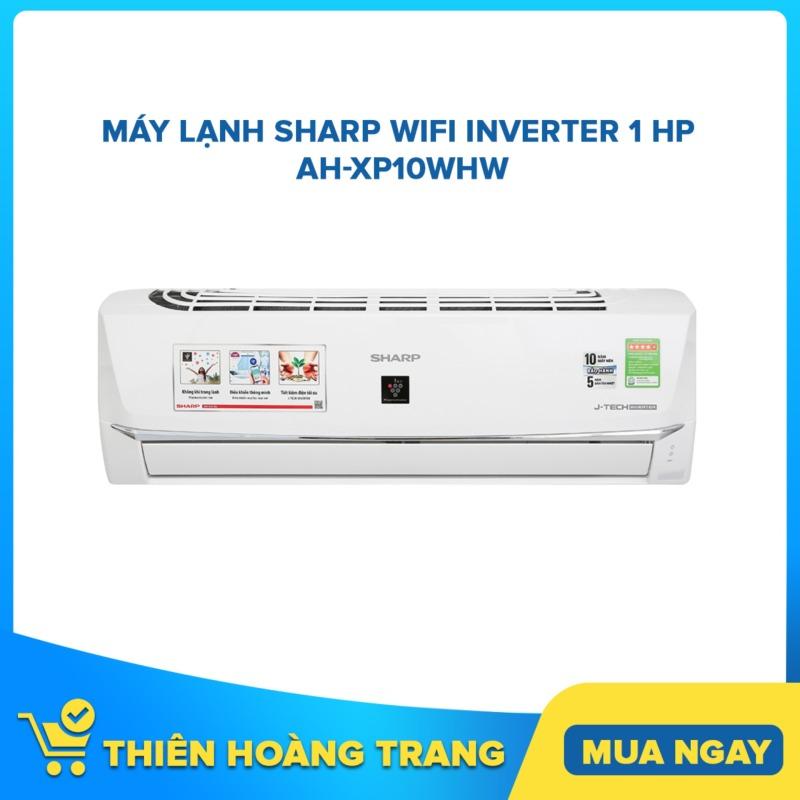 Máy lạnh Sharp Wifi Inverter 1 HP AH-XP10WHW - Tặng Bộ Nồi Sharp PR-J03