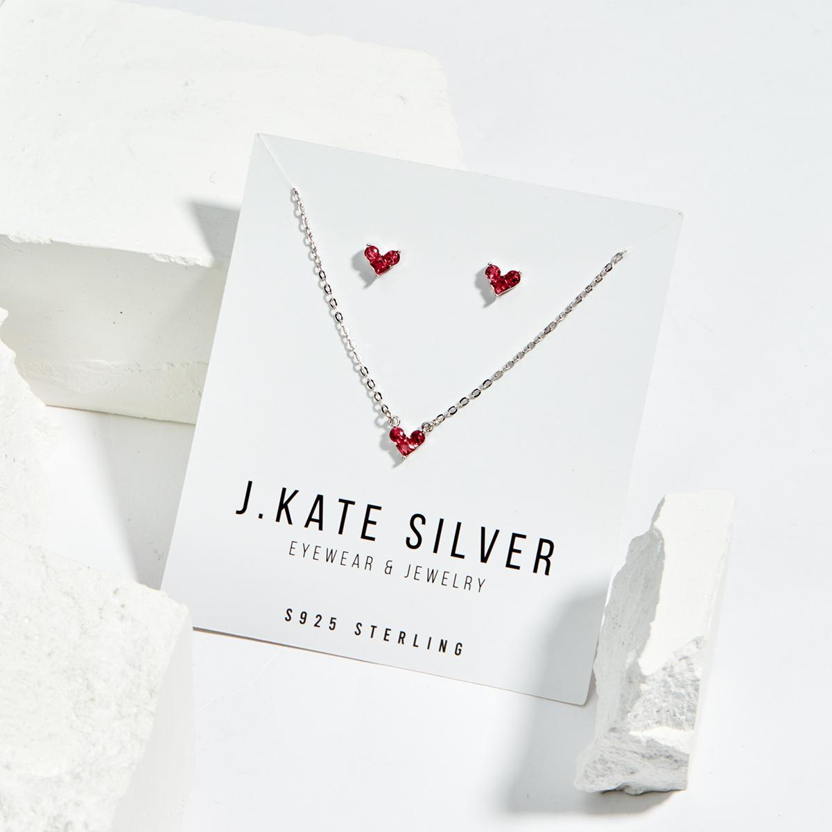 Khuyến mãi flash sale hoa tai bạc JK Silver - Dây chuyền hoặc hoa tai đá zircon kết hợp bạc thật 925 cao cấp-kiểu dáng Korea mẫu mới 2019 J27