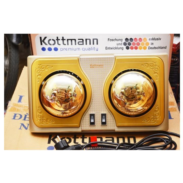 Đèn sưởi nhà tắm cao cấp 2 bóng Kottman chính hãng ( Bảo hành 2 năm )