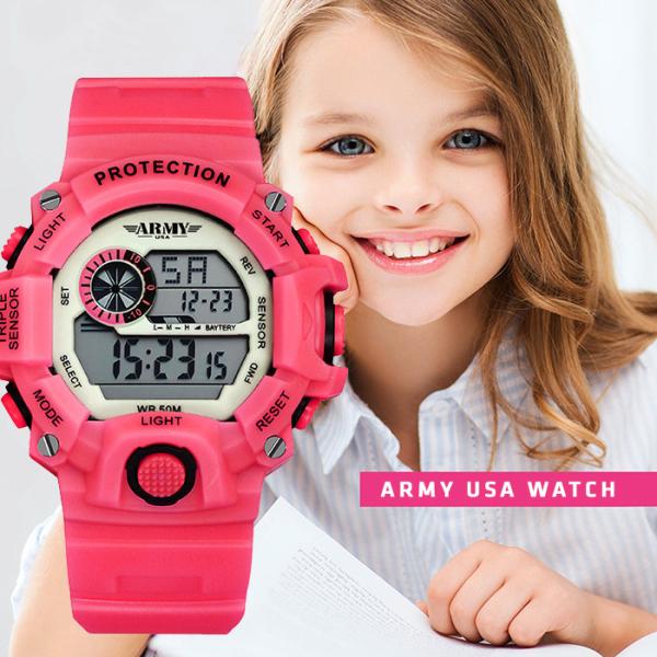 (QUÀ TẾT CHO BÉ) Đồng hồ Trẻ Em ARMY USA - Chống Sốc, Chống Nuốc Tốt, An Toàn Tuyệt Đối Cho Bé bán chạy