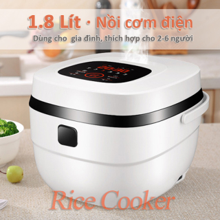 Nồi cơm điện lớn 1.8 Lít - Hẹn giờ thông minh trong khoảng 24 giờ, thích hợp cho 2-6 người, Lớp chống dính dày 2mm, lớp vỏ chống va đập và cực bền màu - Rice cooker thumbnail