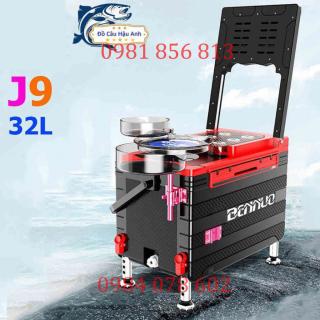 (sale) Thùng Câu Đài BENNOU J9 Đa Năng Thể Tích 32L giữ nhiệt cực tốt, thùng câu cá KK21 uy tín chất lượng thumbnail