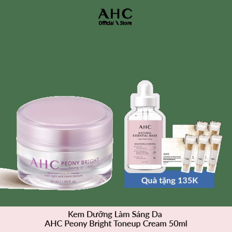 Kem Dưỡng Làm Sáng Da AHC Peony Bright Toneup Cream 50ml